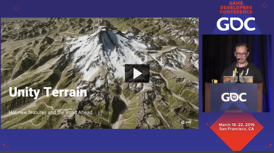 GDC 2019「最新の地形機能と今後の道」とUnityによるディープラーニングの紹介」