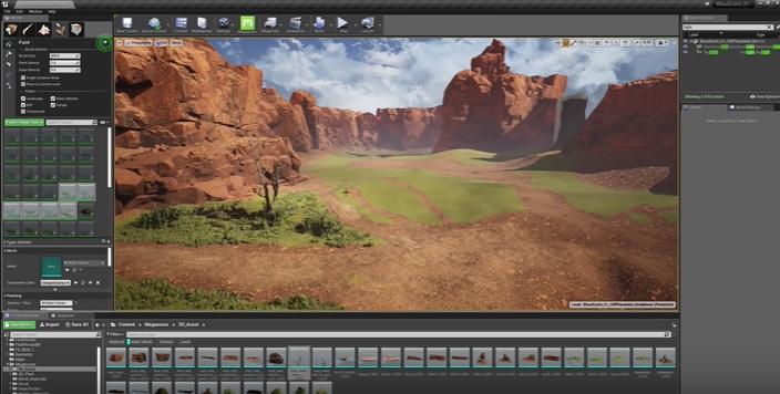 Halo の象徴的なマップ Blood Gulch の Unreal Engine 4 メイキング