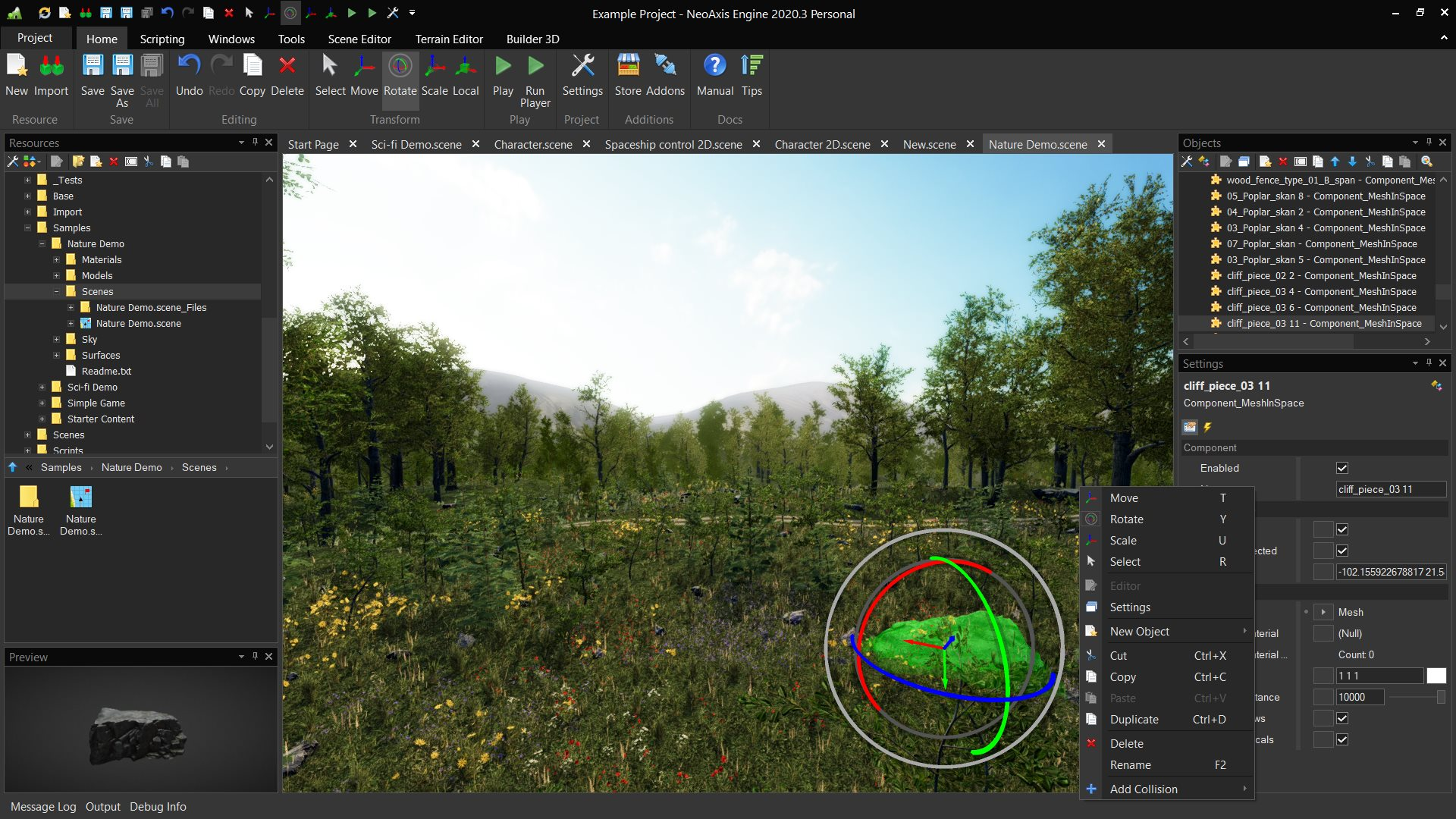 NeoAxis Engine 2020.3がリリースされました