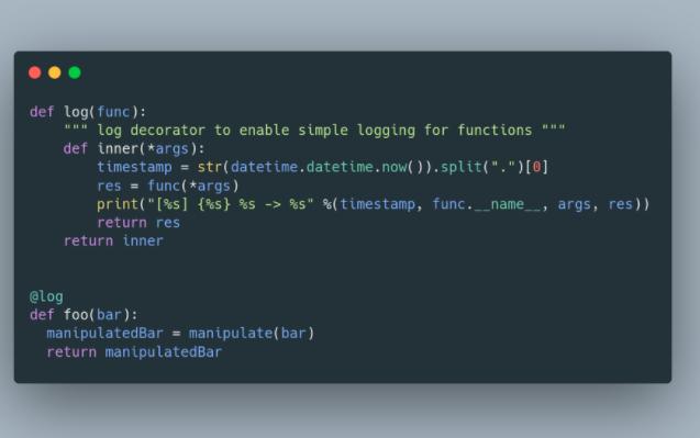 Pythonデバッグ用の小さなログデコレータ