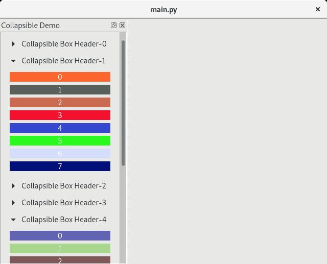 PyQtで折りたたみ可能なボックスを作成する方法