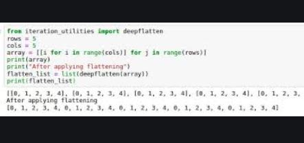 Pythonでリストのリストをフラット化する5つの異なる方法